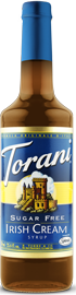Torani Sugar Free - Irish Cream Syrup 750 ml, 25.4 fl oz