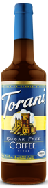 Torani Sugar Free - Coffee Flavour Syrup 750 ml, 25.4 fl oz